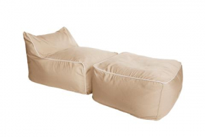 lounger Hip Chik Chairs Lounger Sezlong Set - Bej