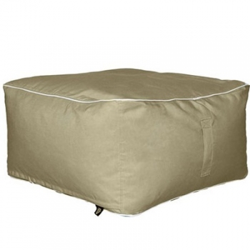 Hip Chik Chairs Square Ottoman Puf Minder - Bej